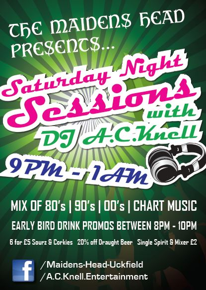 Saturday Night Sessions at the Maidens Head Uckfield