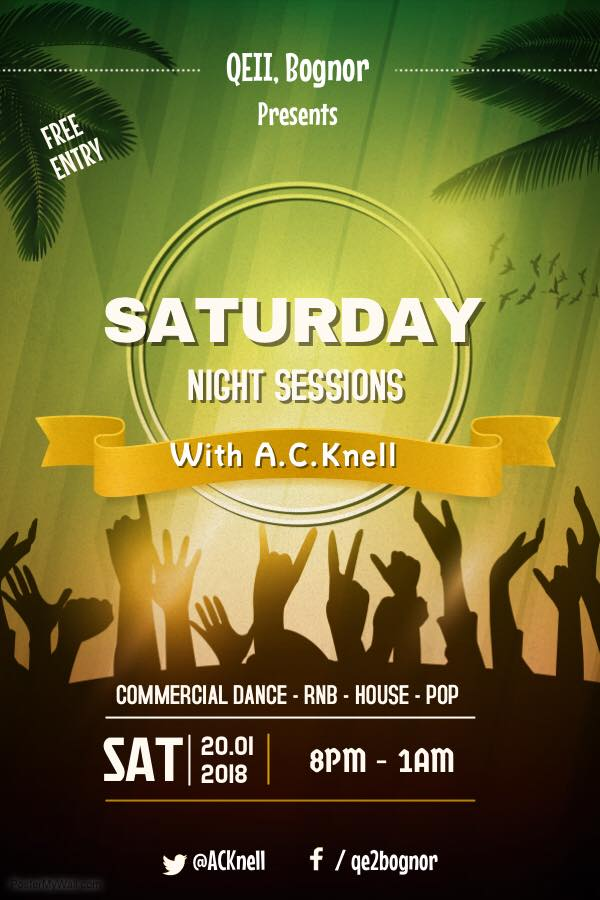 Saturday Night Sessions at QE2, Bognor Regis