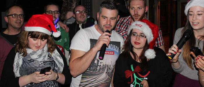 Group Christmas Karaoke Act at the Maidens Head