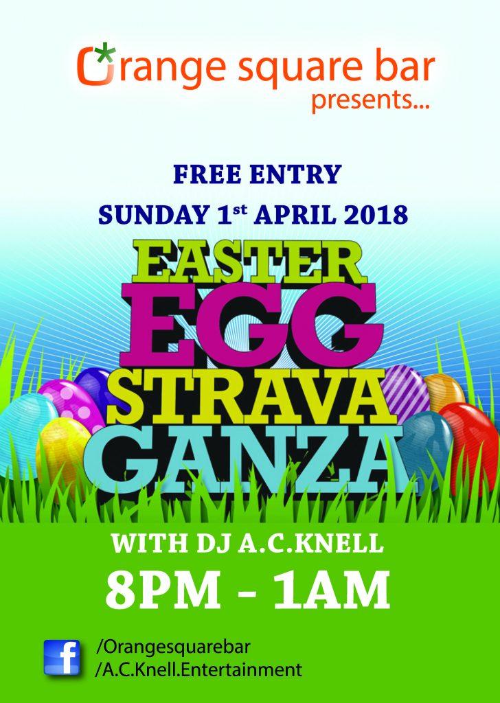 Orange Square Easter Poster 2018